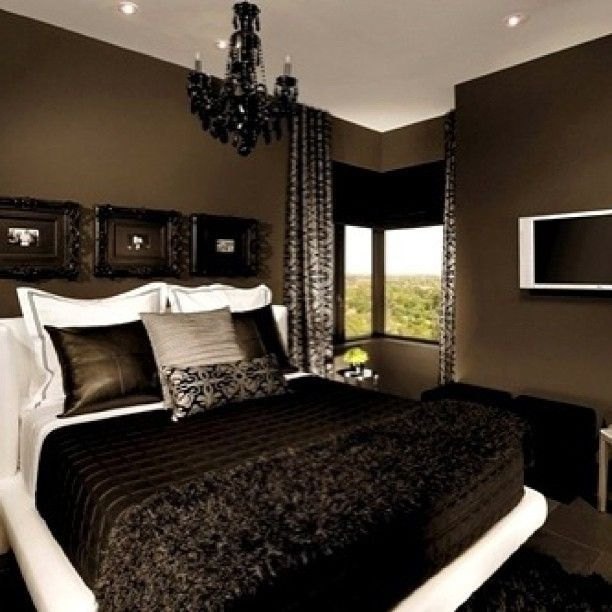 Love to colour and bedding, could do without the chandelier and wall frames but overall I would do this...