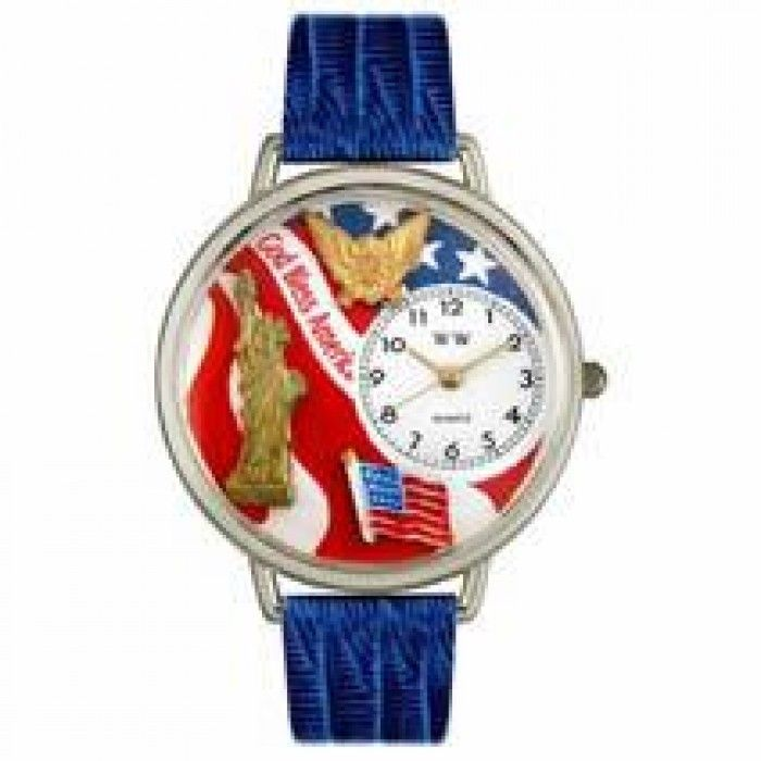 July 4th Patriotic Watch in Silver (Large)  Whimsical Watches has selling july 4th patriotic watch in silver (large) product with good quality at best price. Whimsical Watches july 4th patriotic watch in silver (large) has one of the most popular and high rank product under shops category. Many customers purchased Whimsical Watches july 4th patriotic watch in silver (large) product and we received positive feedback from most of our customers.