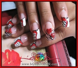 Zebra nail art by Jennifer Perez ~ Mystic Nails  'Yall have an awesome day! #Zebra nail art