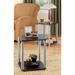 No Tools Required Set of 2 End Table Set, double as nightstands