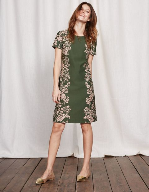 Floral Ponte Dress WW115 Day Dresses at Boden