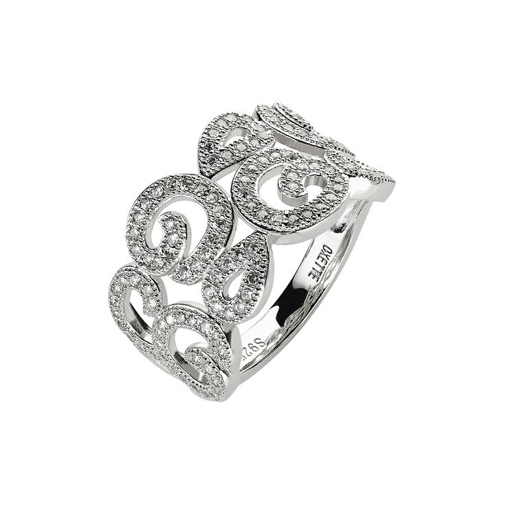 Oxette Sterling silver 925 Ring - Available here http://www.oxette.gr/kosmimata/daktulidia/silver-ring-wint-cz-oxette-621l-1/  #oxette #silver #ring #jewellery
