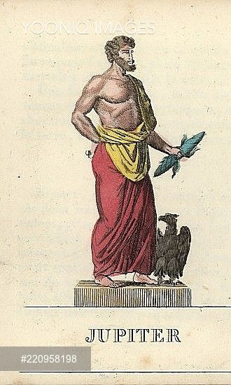 jupiter king of the roman gods god of the sky and