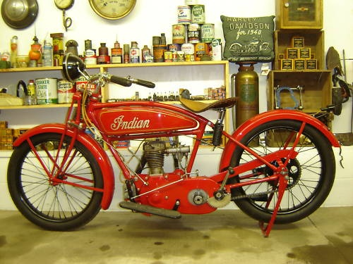Antique Motorcycle Harley Indian