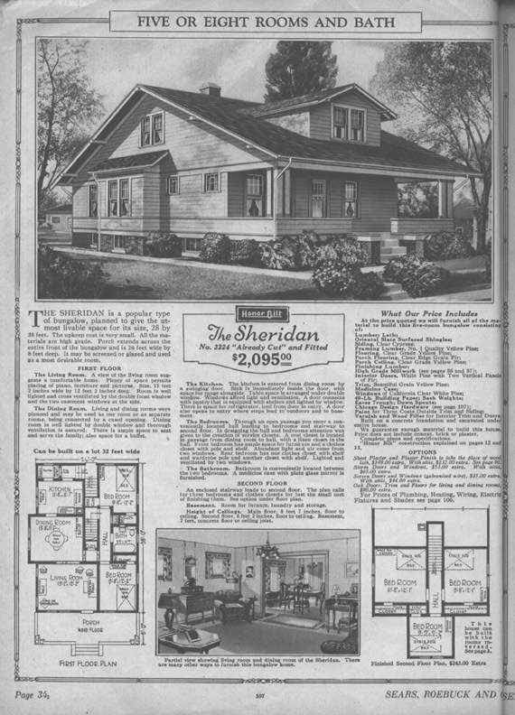 Every inch of this home, which is similar to my own bungalow e (Sears Modern Home - No. 3224 or The Sheridan) was livable.
