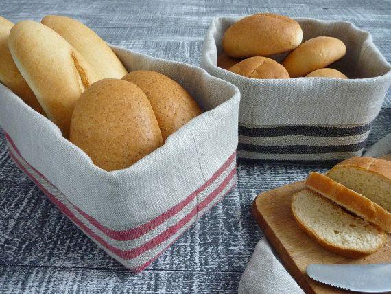 Fabric basket Home decor Natural Linen Bread Basket Linen basket Gift basket Decoration Basket Handmade