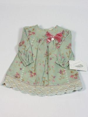 vestido manga larga estampado verde invierno niña rochy