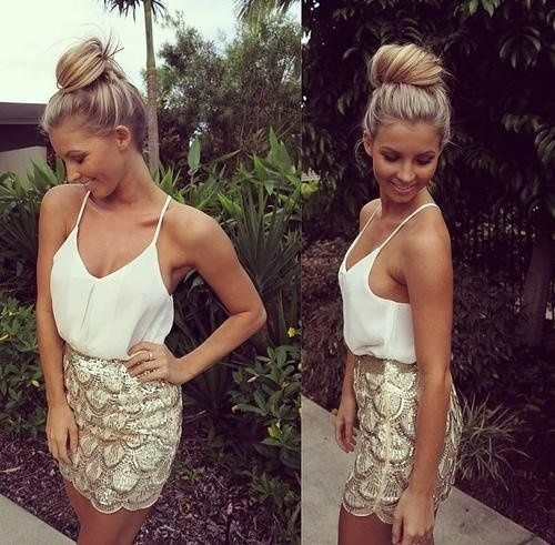 White and gold skirt a topic. Summer is waiting for such outfits;) #fashion #summer