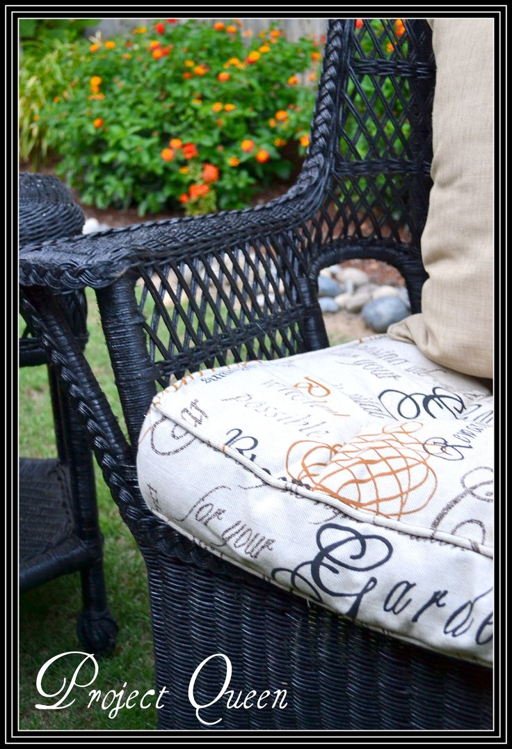 17 Best Ideas About Painting Wicker Furniture On Pinterest