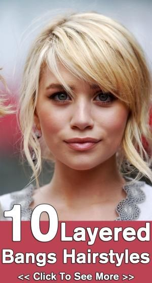 10 Layered Bangs Hairstyles: Here are 10 handpicked layered hairstyles with bangs that can give you the desired look. by AislingH