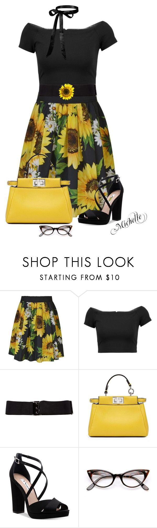 """""""Flower Power"""" by michellesherrill ❤ liked on Polyvore featuring Alice by Temperley, Alice + Olivia, Thomas Wylde, Fendi and Nina"""