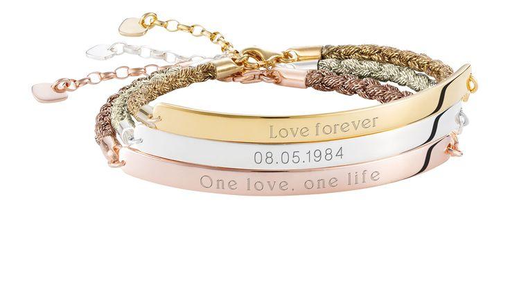 Get your #free engraving: http://thomassa.bo/New-Magic-Love-Bridge-Bracelets