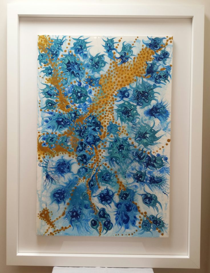 Blossom - Original Resin Art by Claudia Paddison.  86cm x 117cm incl. framing.  For sale $1,200.00 .  See more at  www.facebook.com/claudiascreationsbycp
