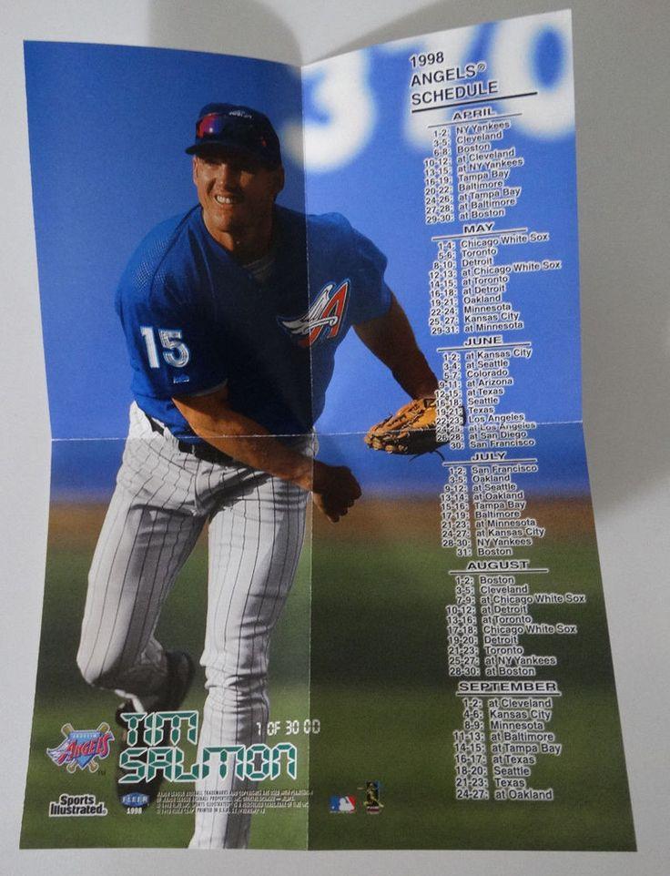 1998 Sports Illustrated Tim Salmon Anaheim Angels Mini Team Schedule