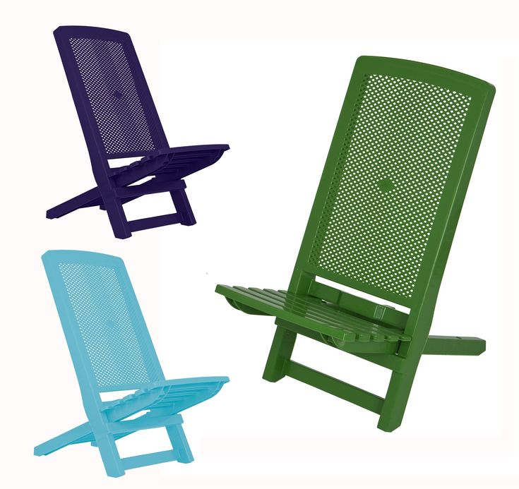 Plastic Folding Beach Lounge Chair