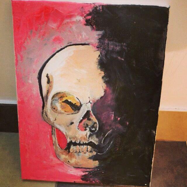 Pink skull!