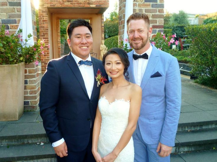 Wayne and Touk Wedding at Eden Gardens - Marriage Celebrant Sydney Stephen Lee.