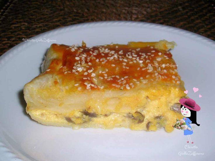 Torta salata con funghi e formaggio, Ricetta facile facile