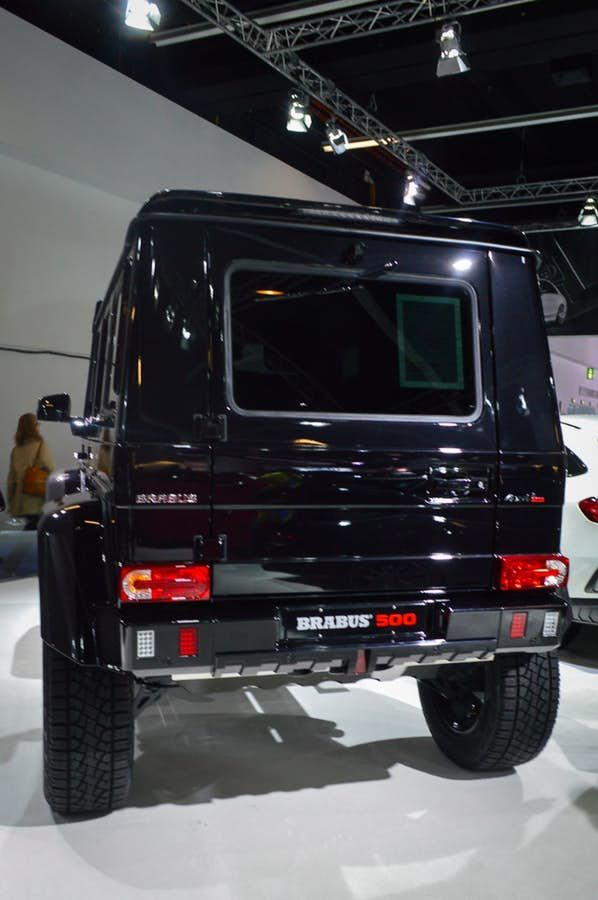 Brabus gives the Mercedes G500 4x4 Squared 500 hp/523 lb-ft and exterior and interior updates