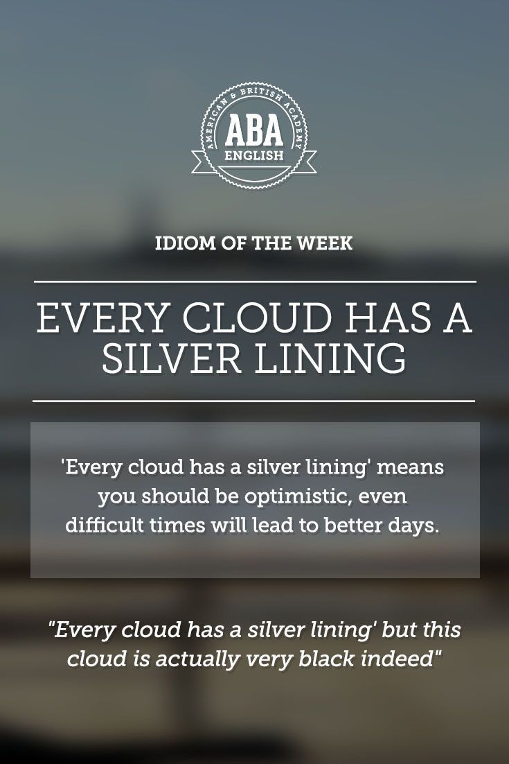 """Posle kise dolazi sunce!... English #idiom """"every cloud has a silver lining"""" means to be optimistic, because even difficult times will lead to better days."""