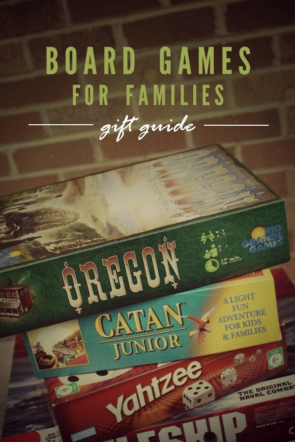 Family Board Game Gift Guide -- The best board games for families!