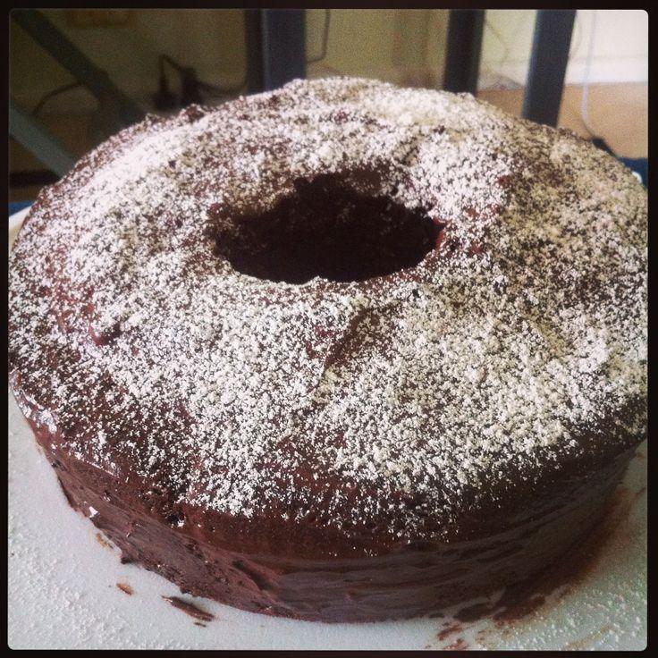 #whatsbardybeenbaking gluten free chocolate cake with chocolate icing