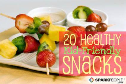 20 Nifty, Nutritious Snacks for Kids via @SparkPeople