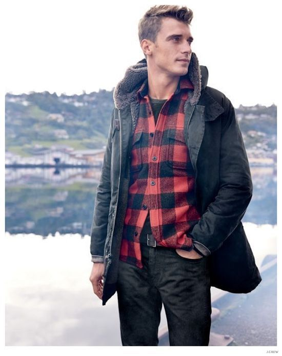 The Stylish Outdoors French Model Clément Chabernaud Reunites With J Crew For Its December 2016 Style Guide Heading And Embracing Clic Rugged