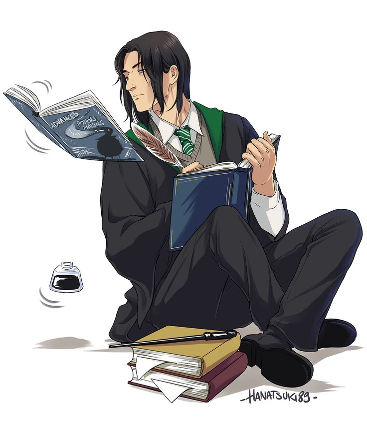 Severus Snape. This is strange... I'm not entirely sure why. Maybe it's the anime style. Or the fact it's anime.