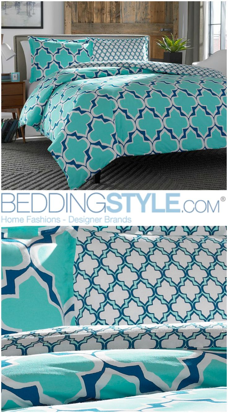 best new bedding styles images on pinterest  bedding bedroom  - cityscenehome brodie teal bedding beddingstyle teal quatrefoil