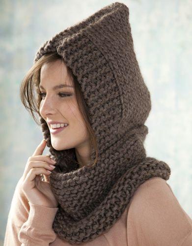 Revista extra 1 Otoño / Invierno | 97: Mujer Cuello-Capucha | Marrón oscuro