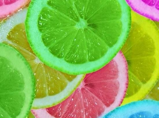 Colored Lemons. I used them for a party that I had this summer. They looked really cool is the punch.