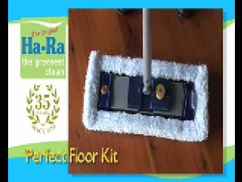 The HaRa Floor cleaning kit allows you to clean most large flat surfaces without the use of harmful chemicals which can cause damaged to you and the environment.