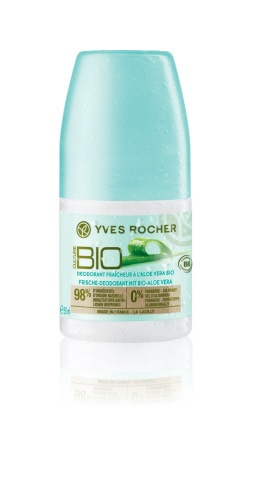 Opt for this effective, moisturizing deodorant that respects the nature of your skin. The Stay Fresh Deodorant with Organic Aloe Vera! #yvesrocherusa #organicbeauty