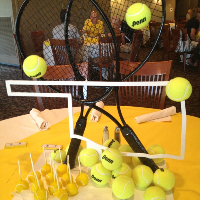 Tennis Centerpiece For Sectionals Banquet