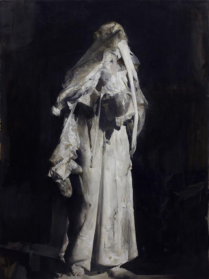 La Vertigine, Nicola Samori, 2012, oil on linen, 200 x 100 cm