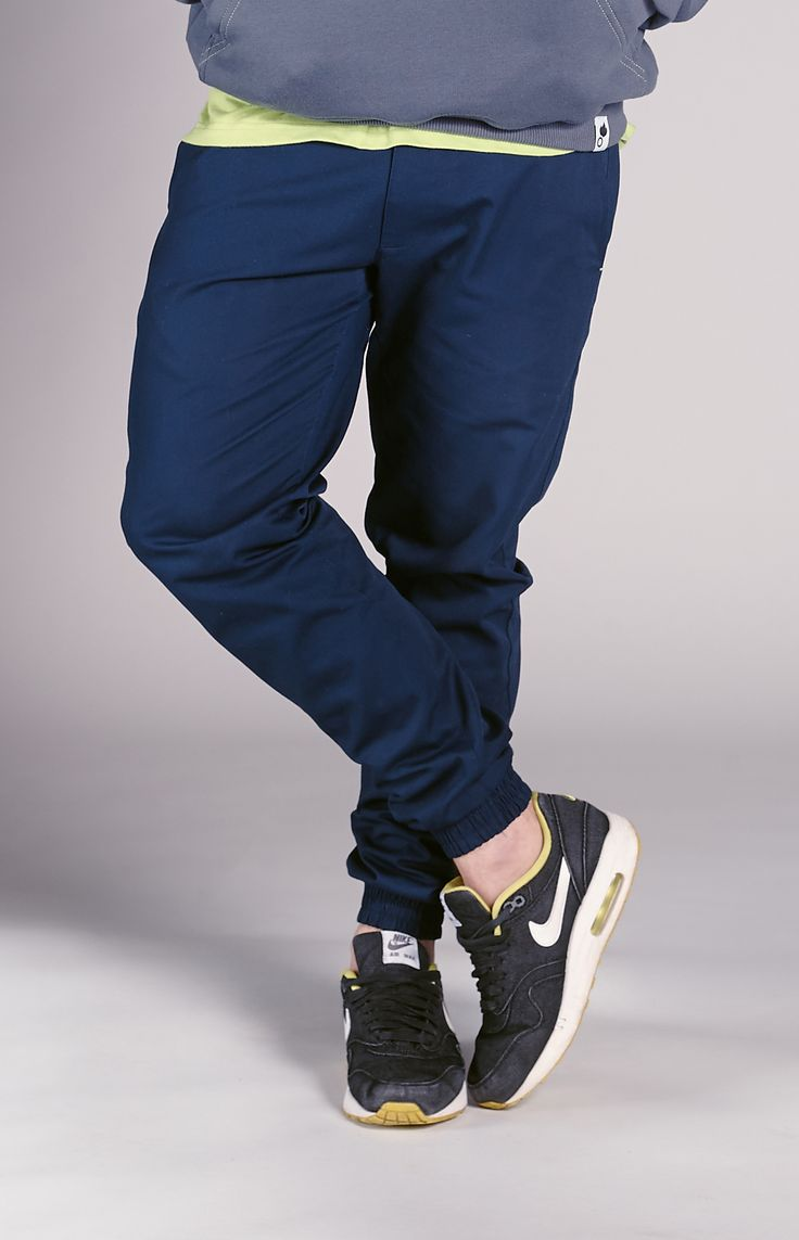 Classic jogger pants with cuff on the bottom. Labeled on the back. www.amokrun.com :3