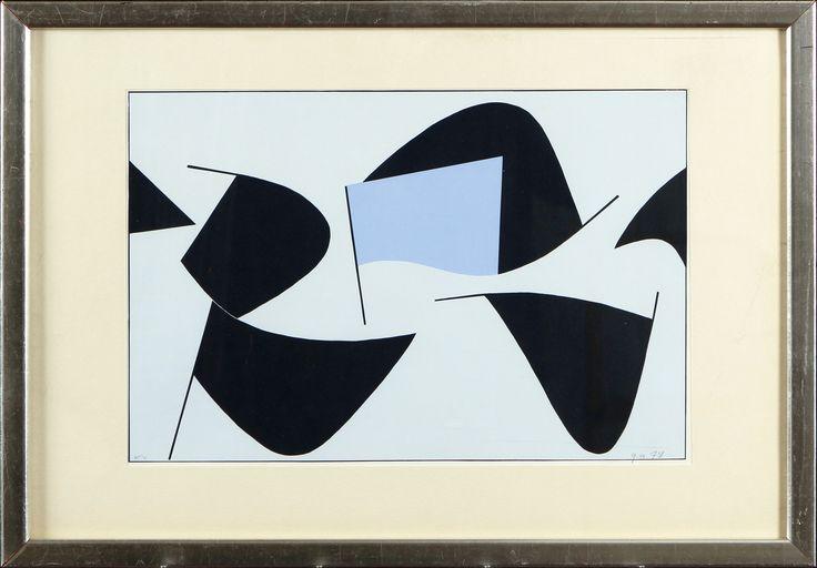 Göran Augustson, 1978, serigrafia, 27x41 cm, edition KV - Hagelstam A123