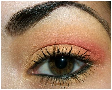 Eyeshadow: Eye Makeup, Summer Looks, Bright Eye, Sunsets Eye, Summer Makeup, Summer Eye, Wedding Colors, Coral Eyeshadows, Mac Cosmetics