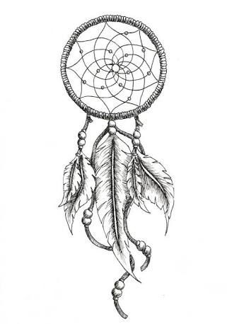 dreamcatcher tattoo. Put this around my cow head tattoo.
