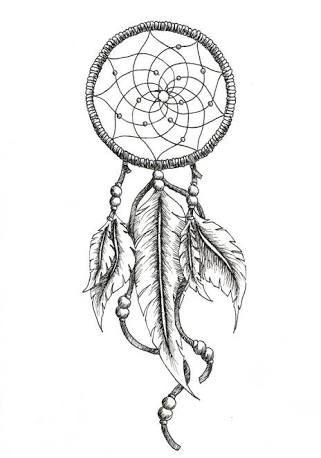 dreamcatcher tattoo. Put this around my cow head tattoo.