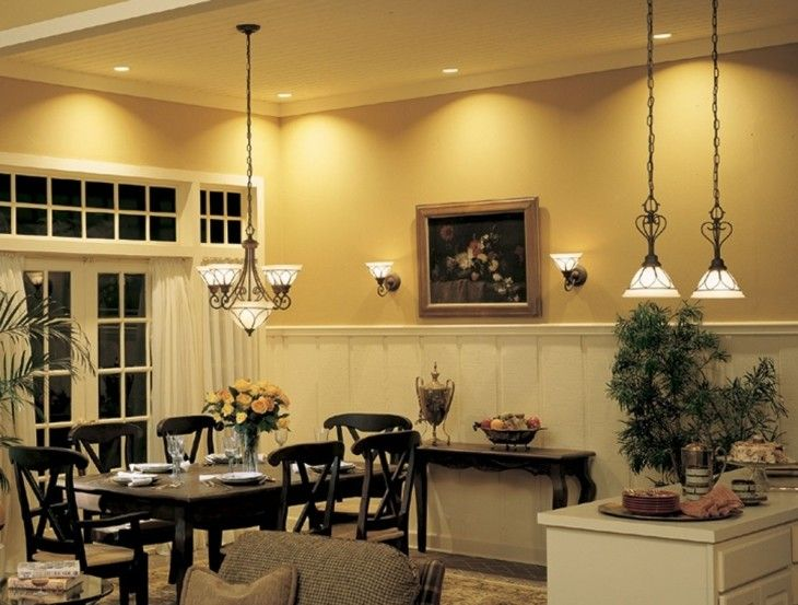 Lighting In Wonderful Dining Room Inspiration - pictures, photos, images
