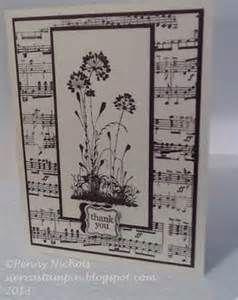 B&W music card
