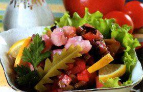 Рыбный салат по-русски