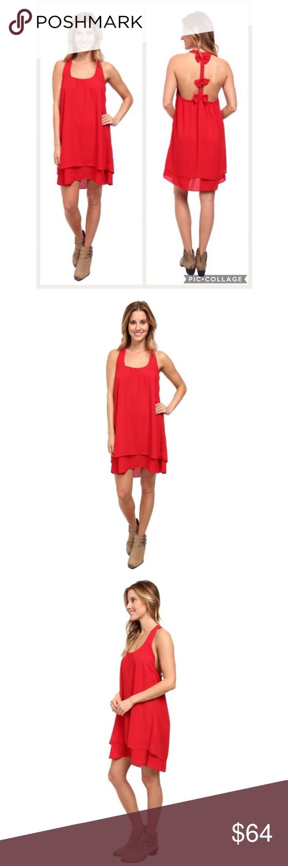 Red Bow Back Dress Great date night or occasional dress. See other colors of this same dress in my close (Black, Teal, Pattern) Lucy Love Dresses Mini