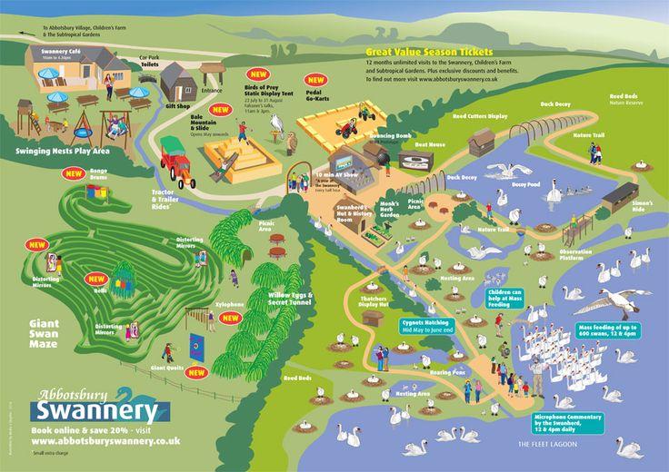 Abbotsbury Swannery map