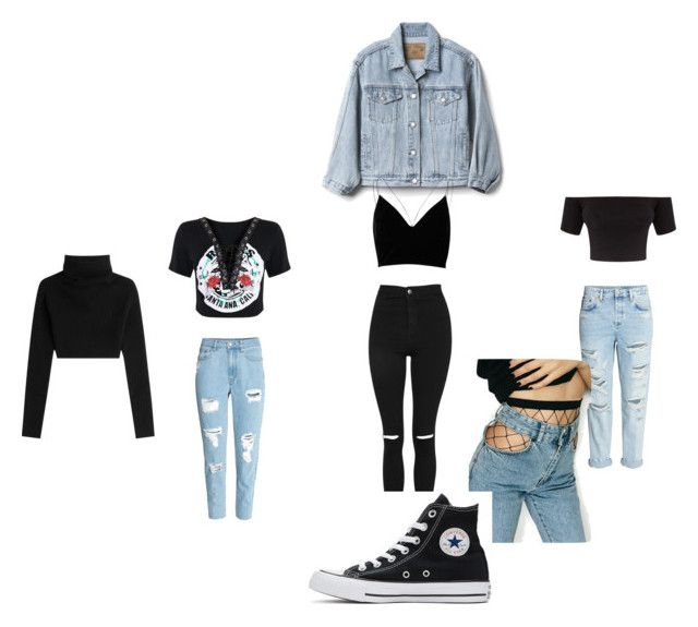 """""""Danya"""" by sam-biersack-stymest ❤ liked on Polyvore featuring Topshop, H&M, Valentino, Gap, WithChic, Converse and River Island"""