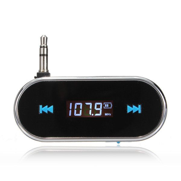 Wireless 3.5mm Handsfree LCD Display Fm Transmitter For iPhone iPod…
