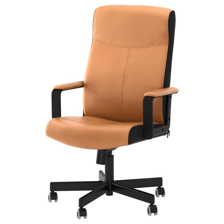 """MALKOLM Swivel chair, brown $119.00 in four colours.  Article Number:601.968.05 You sit comfortably since the chair is adjustable in height.Product dimensions Tested for: 242 lb 8 oz Depth: 25 5/8 """" Max. height: 48 3/8 """" Seat width: 20 1/2 """" Seat depth: 17 3/4 """" Min. seat height: 17 3/4 """" Max. seat height: 22 7/8 """""""