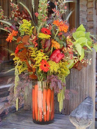 Carrots In Vase Flowers Up Top Flowers Pinterest